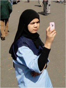 Egyptian with mobile phone
