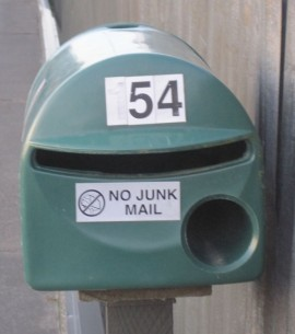 Opt out of Junk Mail